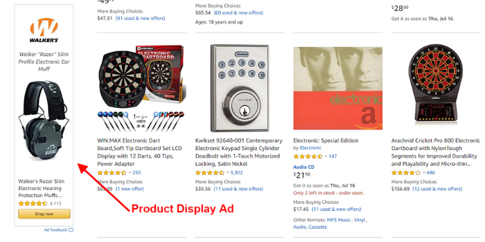 Amazon Product Display Advertisement
