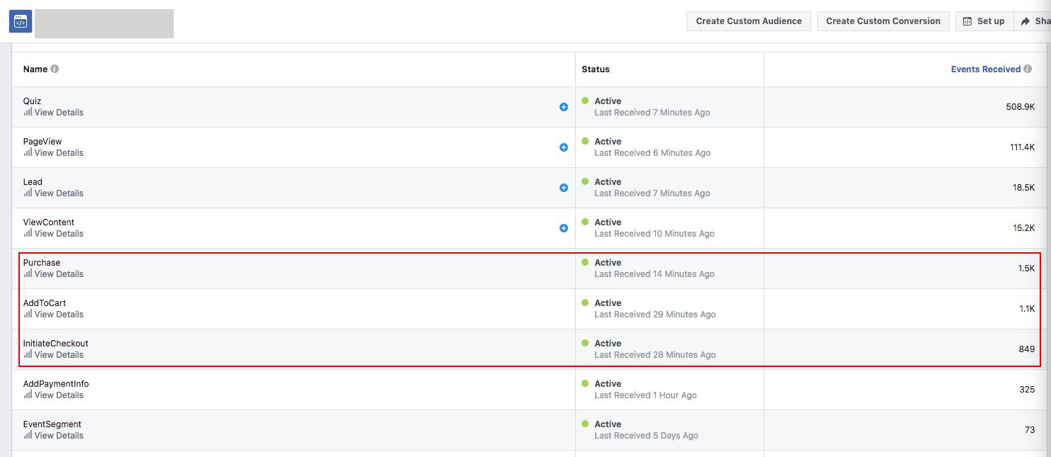 Facebook pixel in shopify