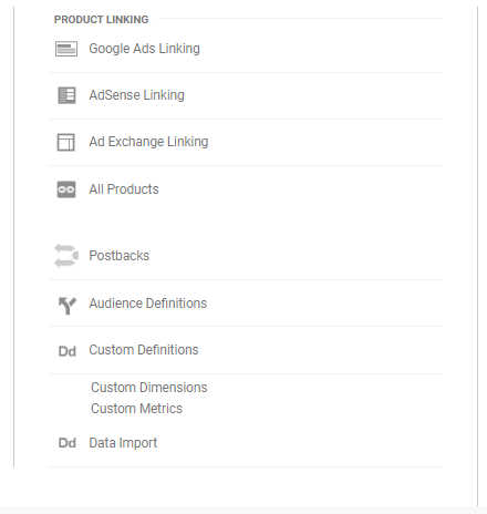 Analytics custom Setting