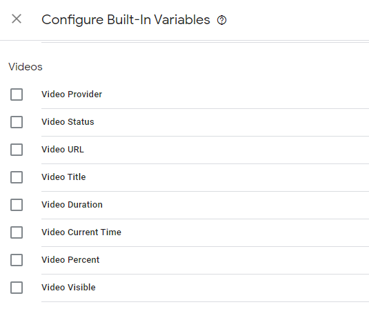 Youtube configure variables