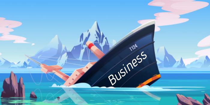 Sinking business ship