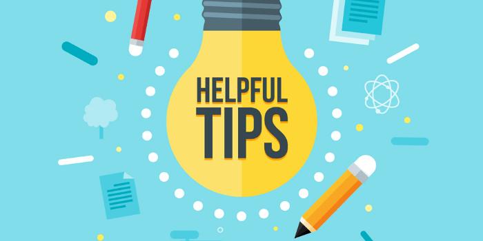 Helpful Tips written in bulb