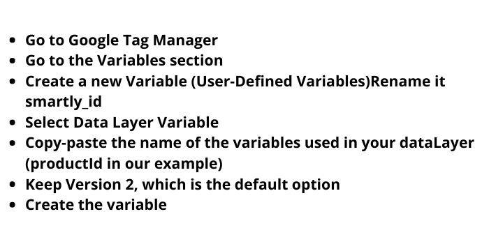 Creating variable in google tag manager
