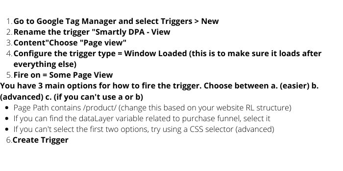 Create Triggers Based on Path and Variables Names