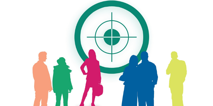 People standing on Affiliate Target