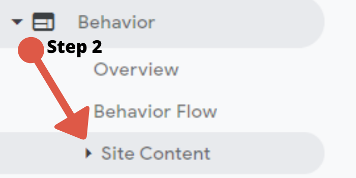 Site Content Tab In Google Analytics