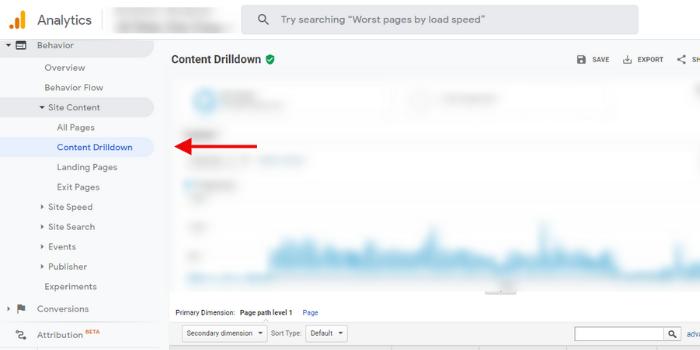 Behavior_ Site Content_ Content Drilldown