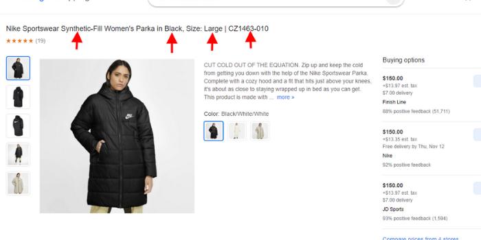 Google Shopping miscellaneous information
