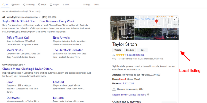 Google structured data local listing markup