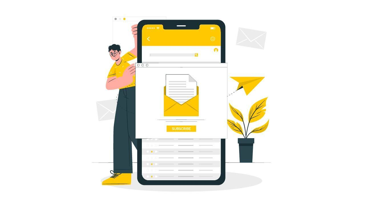 Showing mobile email